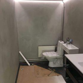 Kylpyhuone rakennusvaiheessa SPB Group Helsinki Oy