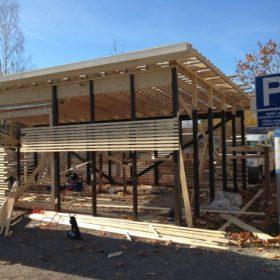 Piharakennus seinä aloitettu SPB Group Helsinki Oy