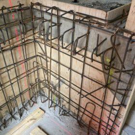 betonivalun muotit lähikuvassa väliseinä SPB Group Helsinki Oy
