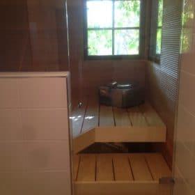 Lasiseinäinen sauna SPB Group Helsinki Oy