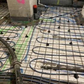 rakennuskohde lattialämmityskaapelointi huonejako