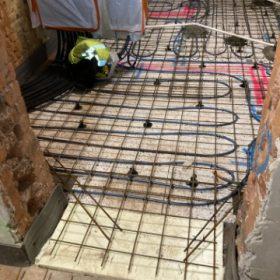 rakennuskohde lattialämmityskaapelointi